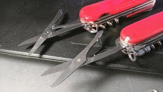 Сравнение ножниц на швейцарских складных ножах (Victorinox vs. Wenger)