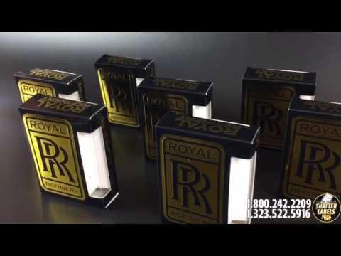 Royal Refinery - Custom Printed Vape Cartridge boxes / CBD