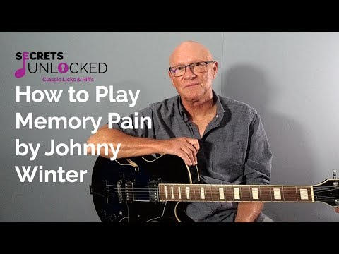 how to play memory pain by johnny winter on guitar