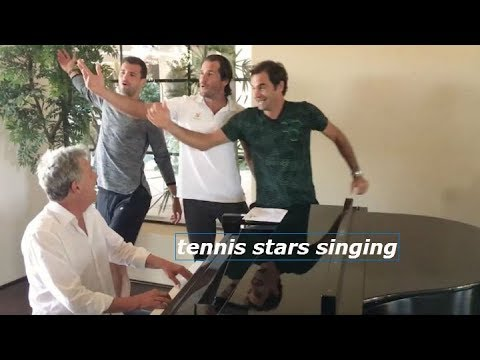 TENNIS STARS SINGING - funny tennis