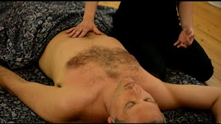 Ayurvedic Yoga Massage, ASMR, Full Body Part 4: Chest, Stomach