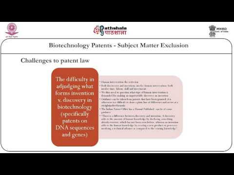 Biotechnology patents-subject matter exclusion