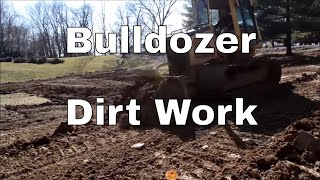 Dirt work - John Deere 650H Bulldozer - Dozer Skills - Heavy Equipment Skills