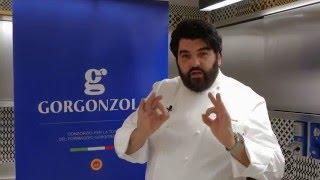 Cubo di tartare di carne con salsa al Gorgonzola - Le Ricette di A. Cannavacciuolo