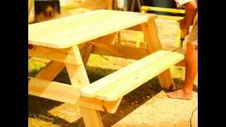 Picnic Table Assembly Video For 6 And 8 Foot Picnic Tables.