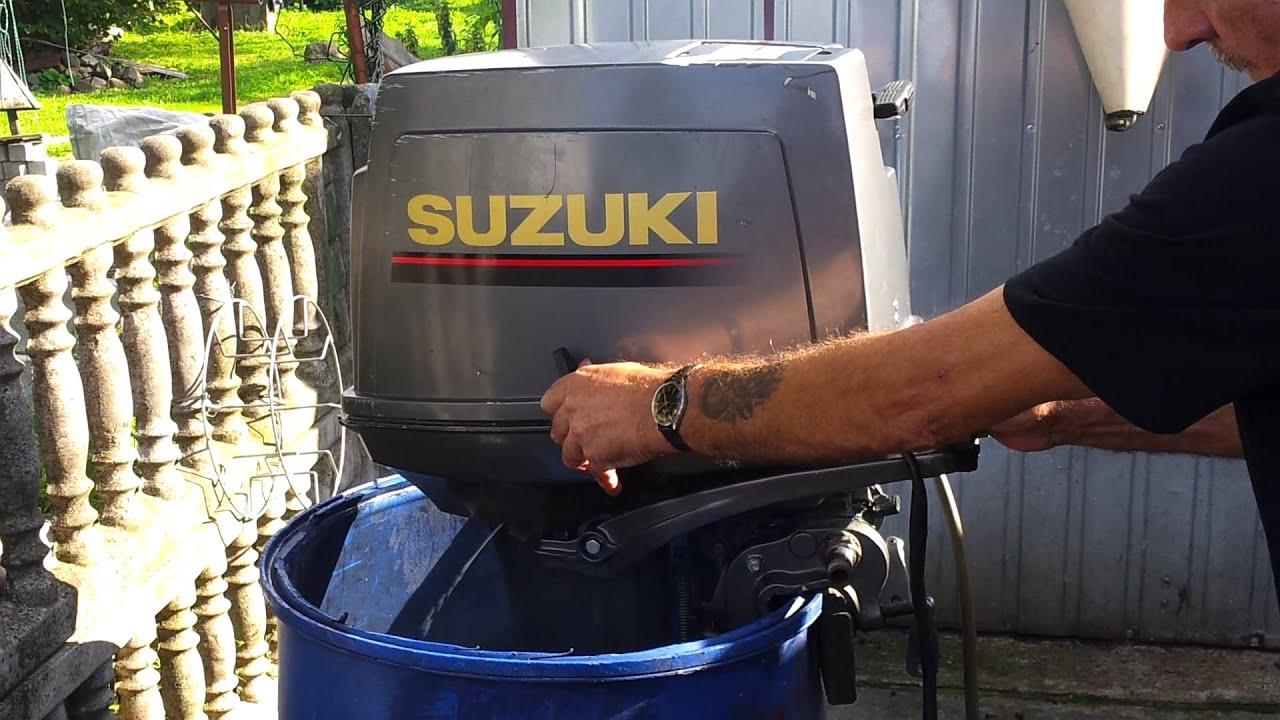 suzuki 30 hp outboard motor 1995r. 2 stroke (dwusuw) - youtube