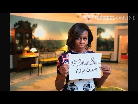 Verschleppte Schülerinnen in Nigeria: Michelle Obama nutzt Rundfunkansprache für Apell