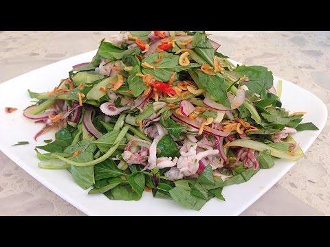 Thai Squid Tentacles Salad - Goi Rau Muc Thailan