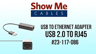 USB to Ethernet Adapter - USB 2.0 to RJ45 #23-117-086