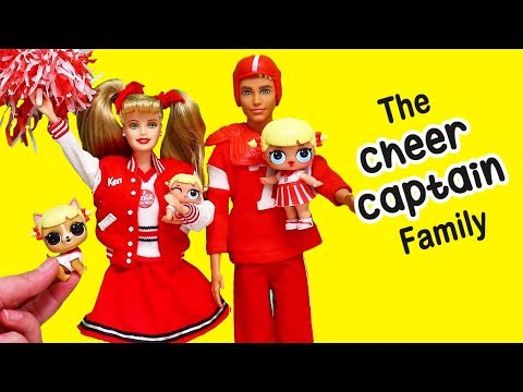 Barbie LOL Families ! The Cheer Captain Family goes to the Mall | Toys and Dolls for Kids | SWTAD