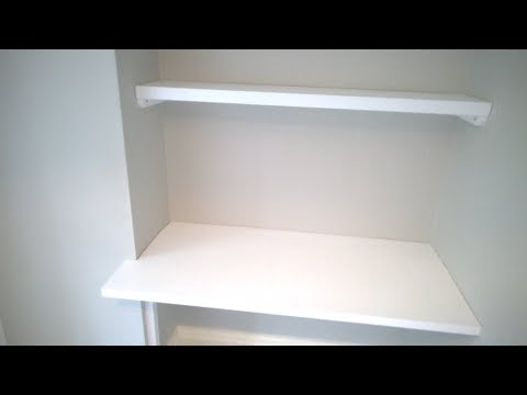 Fitting a desk top into an alcove