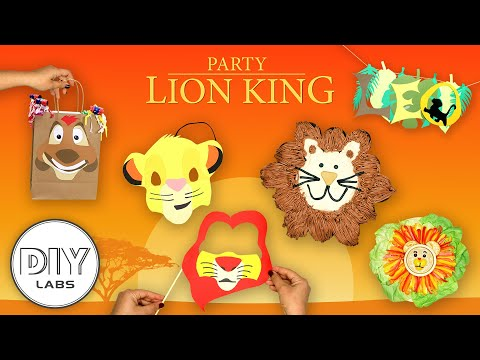 LION KING Kids Party | DIY Decorations, Snacks, Party Props and Birthday Cake
