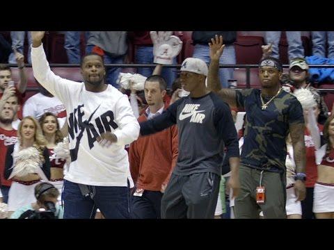 Derrick Henry, Kenyan Drake, and Reggie Ragland honored at Alabama Basketball game