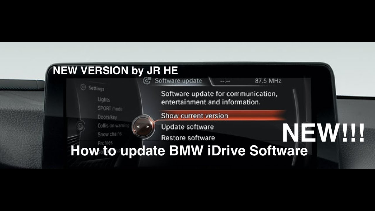 BMW Software Update >> How To Update Bmw Idrive Software Latest Version New Video