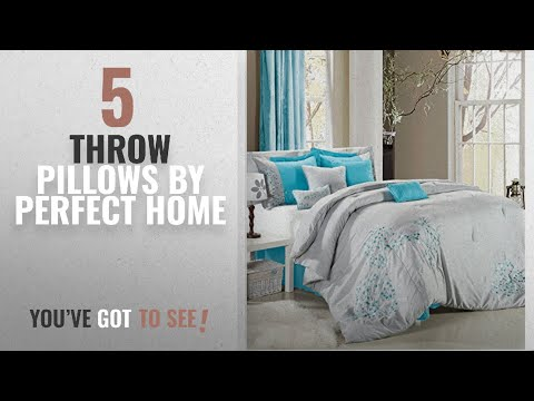 Top 10 Perfect Home Throw Pillows [2018]: Sydney 8-piece Embroidered Comforter Set, Bedskirts Shams