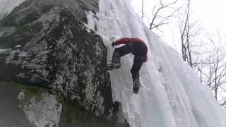 Ice Climbing Kaaterskill Clove Asbestos Wall