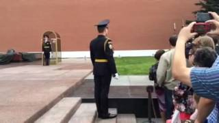 Changing of the guard Moscow, Kremlin in Russia!!  Very awesome!!