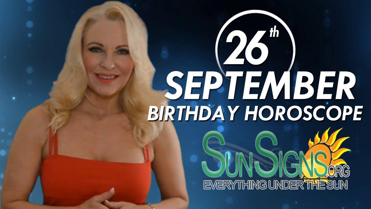 September 26 Zodiac Horoscope Birthday Personality