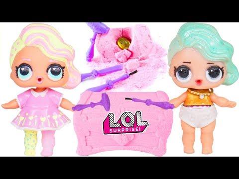 LOL Surprise Dolls Lemonade Baby Opens Disney Princess Gem Dig It for Custom Surprises Lil Brother
