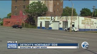 Police investigate shooting at car wash
