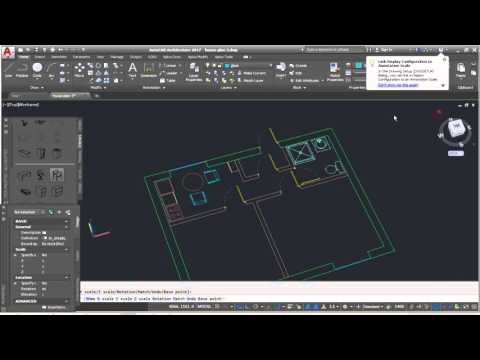 AutoCad Architecture Complete Floor Plan/ Part 4 ( Adding house 2/3D furniture) Tutorial