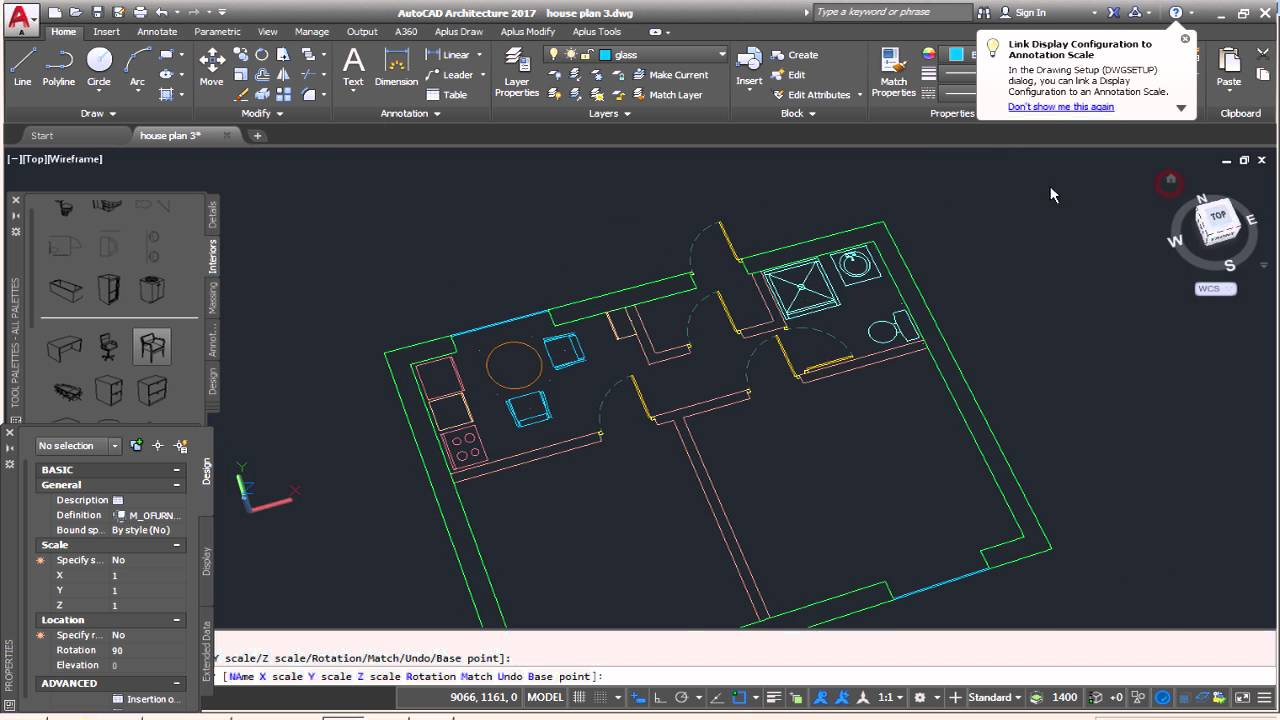Architectural house plans autocad AutoCad Architecture Complete Floor Plan Part 4 Adding house 23D