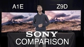 TV Comparison: Sony XBR A1E 4k OLED and Sony XBR Z9D 4k LED