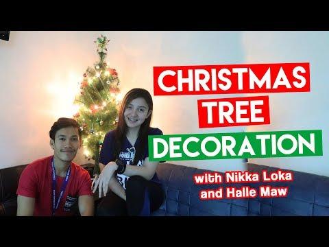 CHRISTMAS TREE DECORATION with Halle Maw and Nikka Loka
