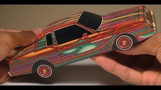JCARWIL PAPERCRAFT 1985 Buick Regal LOWRIDER (Building Paper Model Car)