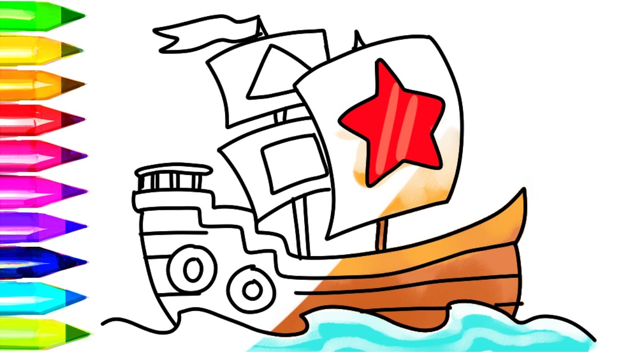 pirate ship coloring pages # 77