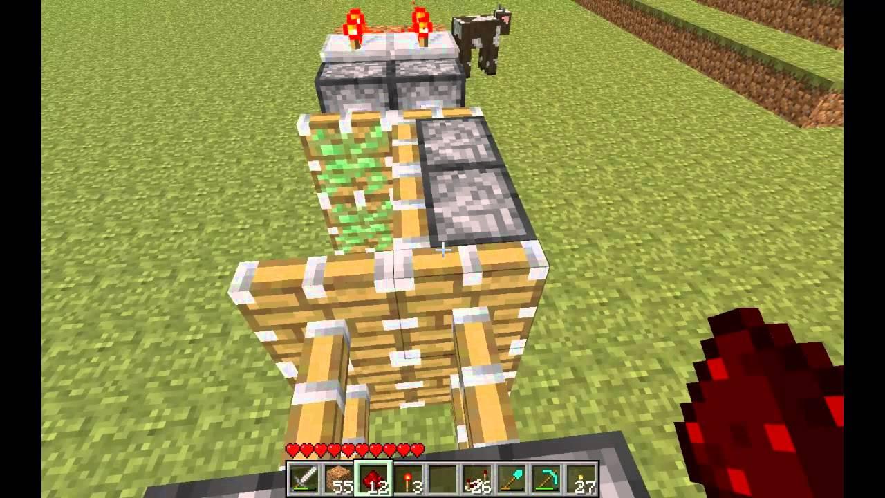 minecraft piston t r f r einen 2x2 tunnel mit xor gate youtube. Black Bedroom Furniture Sets. Home Design Ideas