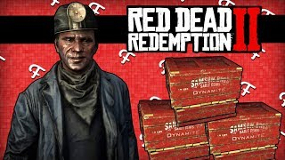 RDR2: Waterfall Diving, Stopping The Train Tests, Mine + Dynamite Glitch! (Online - Comedy Gaming)