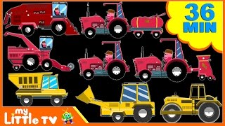 Farm Tractor | Videos For Children | Tractors For Kids | Learn Vehicles | My Little TV