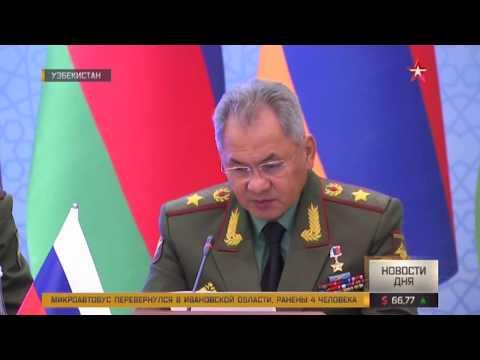 Военные министы РФ и Узбекистана провели переговоры