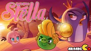 Angry Birds Stella: Beach Day Wall Of Pigs Level 4 All 3 Stars Walkthrough