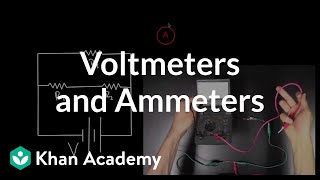 Voltmeters and Ammeters   Circuits   Physics   Khan Academy