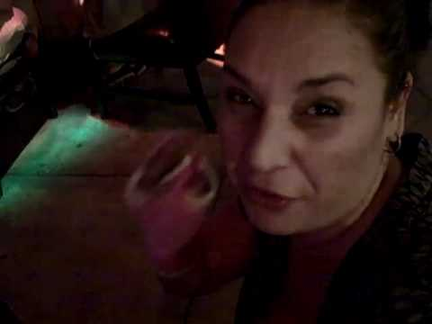 Eva at Little Prague Restaurant for Karaoke and Wes's birthday - lol