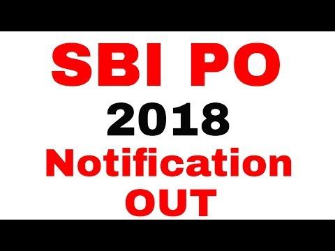 SBI PO 2018 Notification Released !
