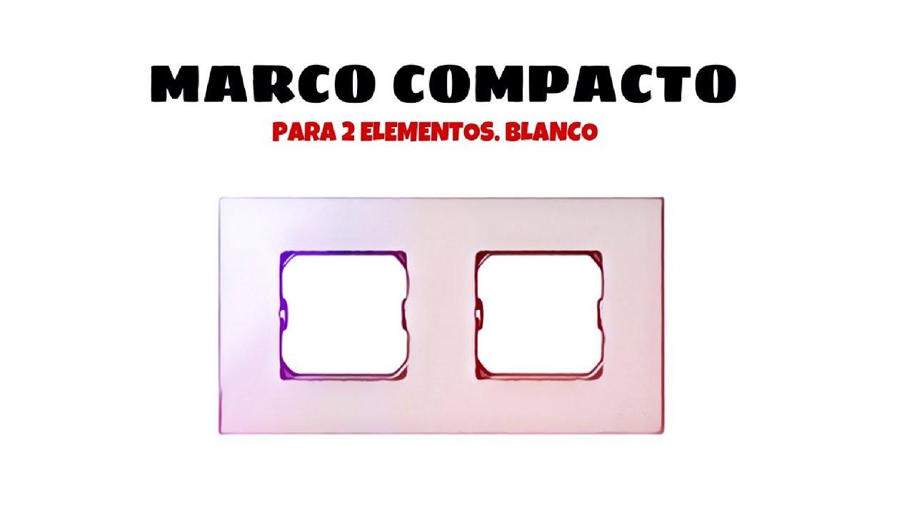 Marco compacto para 1 elemento Simon 27 Play Blanco