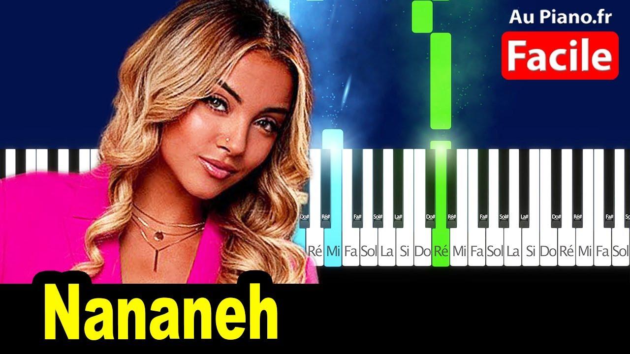 Wejdene Nananeh - Piano Facile Cover Tutorial Lyrics (AuPiano.Fr)