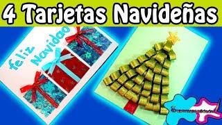 4 Tarjetas navideñas (muy fáciles) 🎄SUPERMANUALIDADES🎄
