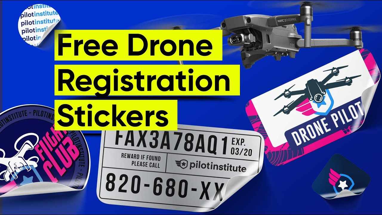 Free Drone Registration Stickers