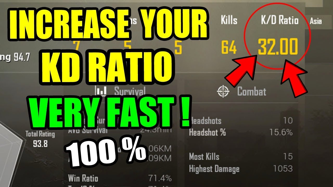How To Increase k/d Ratio In Pubg Mobile ? What is the K/D Ratio in Pubg ?