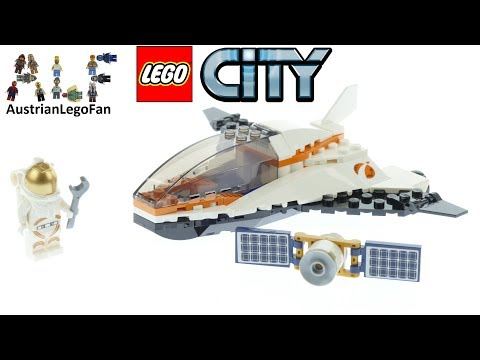 Lego City 60224 Satellite Service Mission Speed Build
