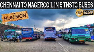 Exclusive Chennai To Nagercoil In TNSTC SETC And Kerala KSRTC Buses Memorable Journey