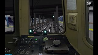 OpenBVE HD: Operating NYC Subway R46 F Train w/ Timers (Coney Island to Jamaica-179th Street)