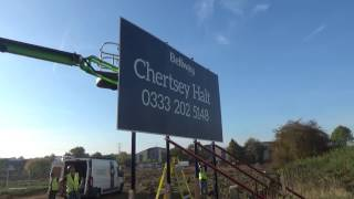 Video Billboard Construction in London -  Chertsey, Surrey for Bellway Homes download MP3, 3GP, MP4, WEBM, AVI, FLV Juni 2018