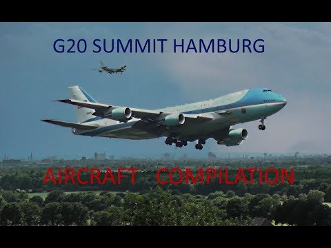 G20 - Presidential Aircraft Arrival Compilation in Hamburg!!