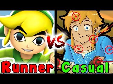 Casual VS Speedrun - Rito Village/Vah Medoh Divine Beast (Zelda Breath Of The Wild)