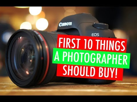 First 10  things a photographer should buy!